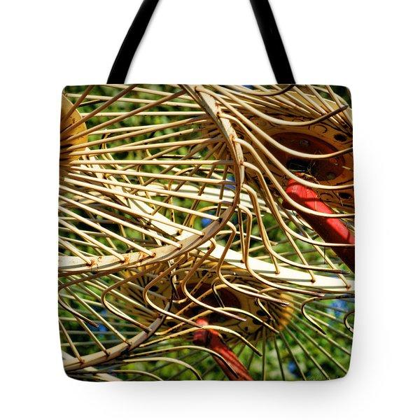 Wheel Rake Abstract Tote Bag