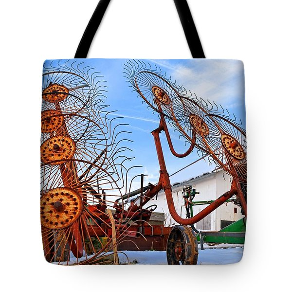 Wheel Rake Upside Down 2 Tote Bag