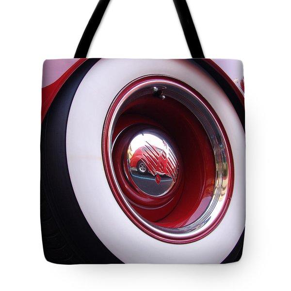 Wheel Reflection Tote Bag by Carol Milisen