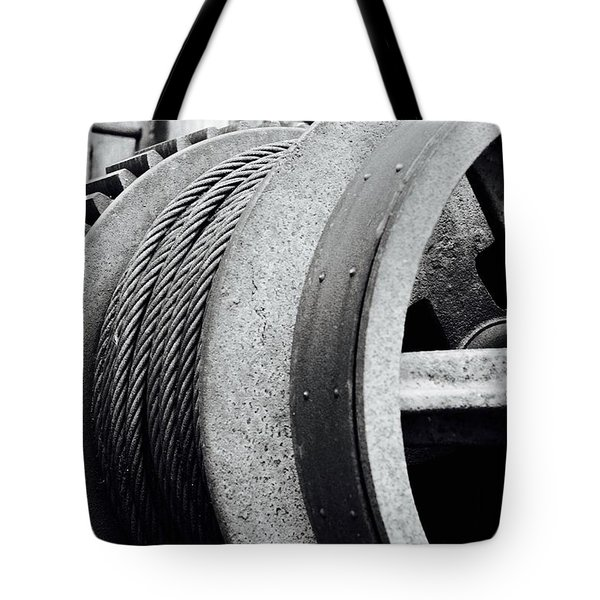 Wheels And Pulleys  Tote Bag