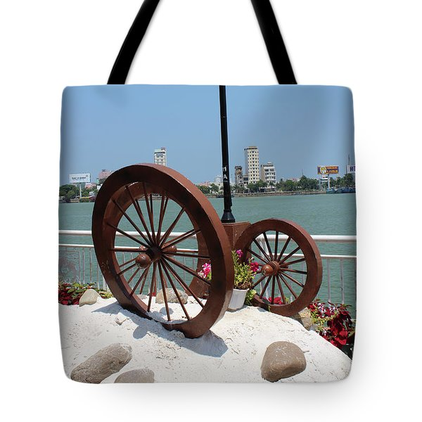 Wheels By The Water Tote Bag