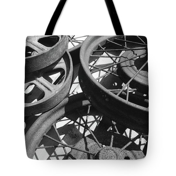 Wheels Of Time Tote Bag by Tim Good