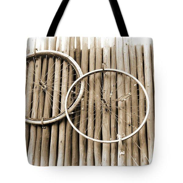 Wheels On Bamboo Tote Bag