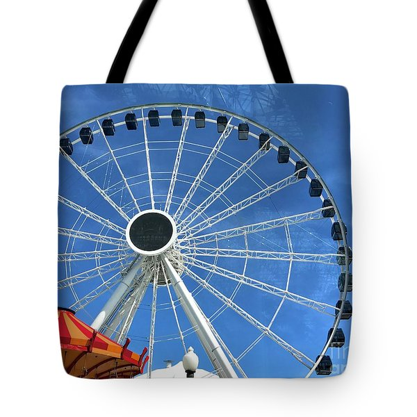 Wheels On Fire Tote Bag by Trish Hale