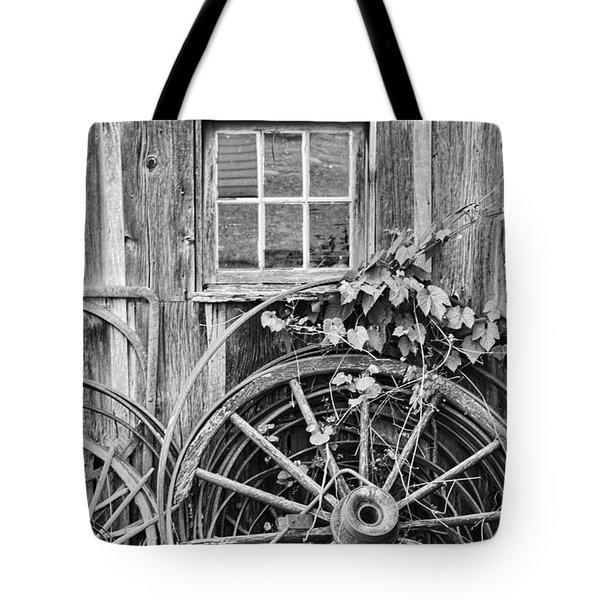 Wheels Wheels And More Wheels Tote Bag by Crystal Nederman