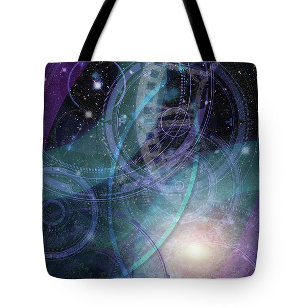 Wheels Within Wheels Tote Bag by Kenneth Armand Johnson