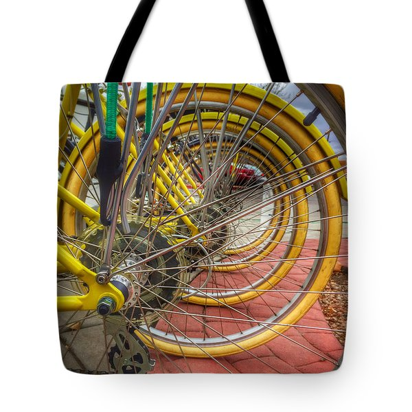 Wheels Within Wheels Tote Bag