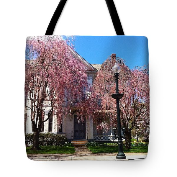 Wheeping Cherry House Tote Bag