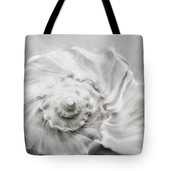 Tote Bag featuring the photograph Whelk In Black And White by Benanne Stiens