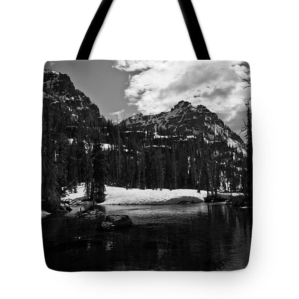 Whelp Lake, Mission Mountains Tote Bag
