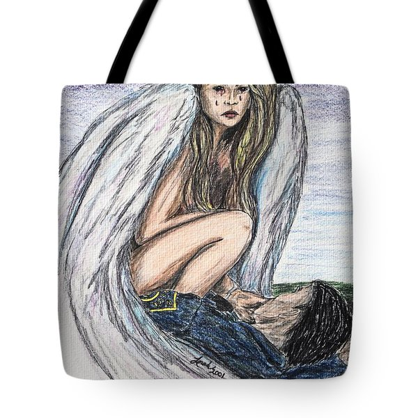 When Angels Cry Tote Bag