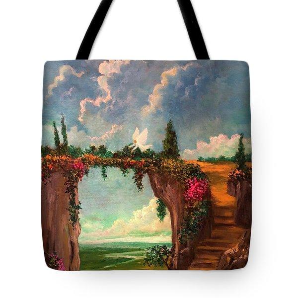 When Angels Garden In Heaven Tote Bag
