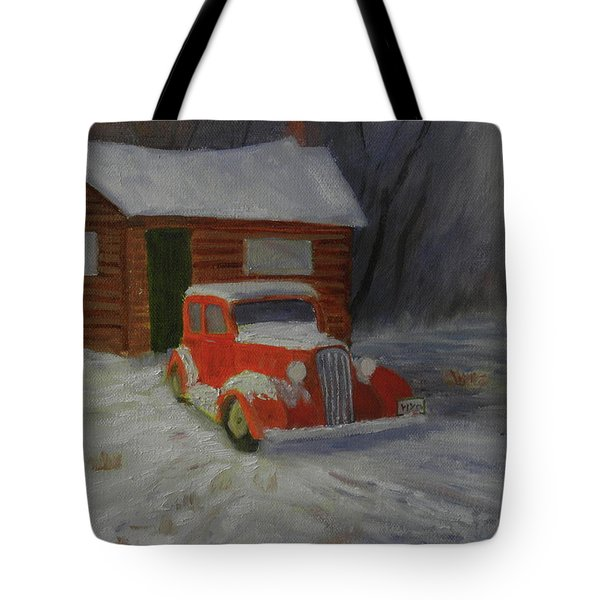 When Cars Were Big And Homes Were Small Tote Bag