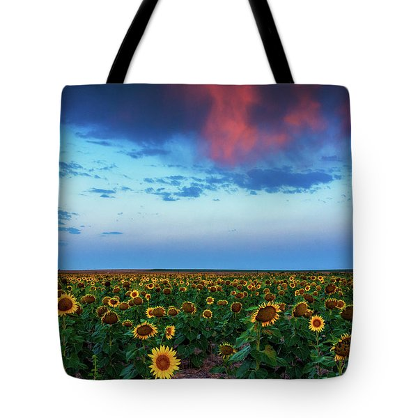 Tote Bag featuring the photograph When Clouds Dance by John De Bord