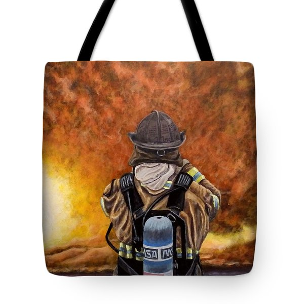 When Hell Comes To Visit Tote Bag