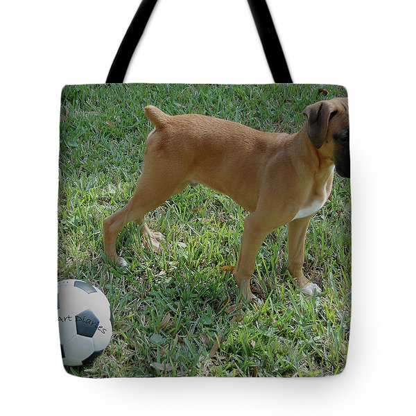 When I Was Just A Pup Tote Bag by DigiArt Diaries by Vicky B Fuller