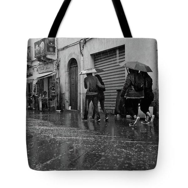 When It Rains It Pours Tote Bag