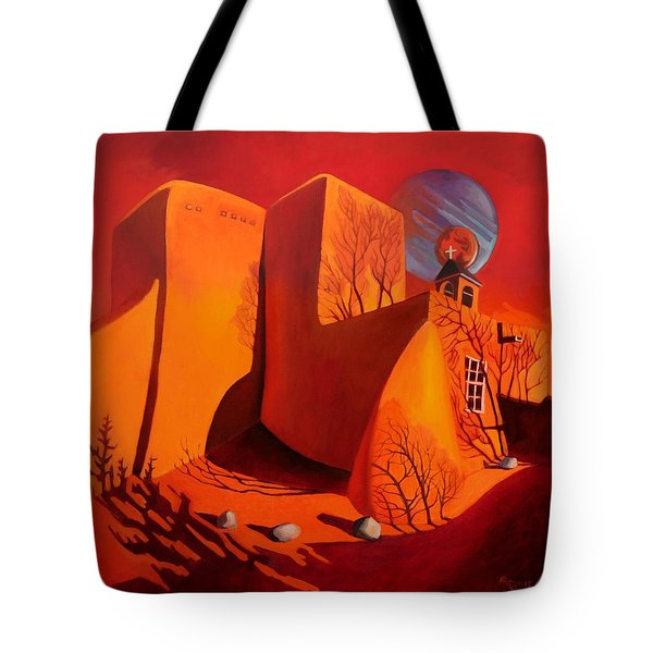 Tote Bag featuring the painting When Jupiter Aligns With Mars by Art West