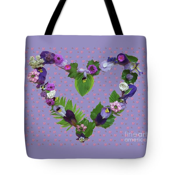 Tote Bag featuring the mixed media When Love Is New by Nancy Lee Moran