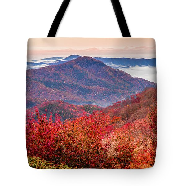 Tote Bag featuring the photograph When Mountains Sing by Karen Wiles