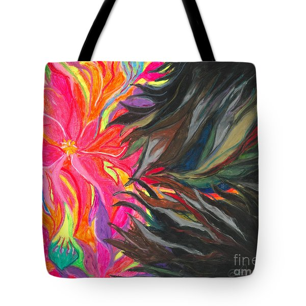 Tote Bag featuring the painting When Pain Comes by Ania M Milo