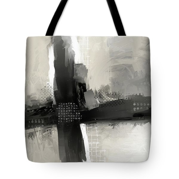 Tote Bag featuring the mixed media When Paths Cross by Eduardo Tavares