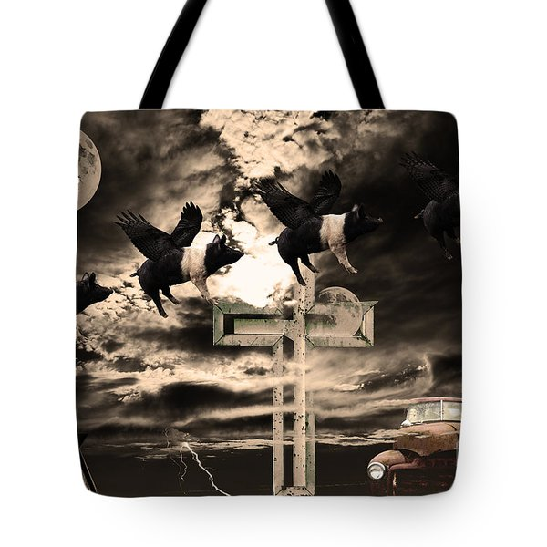 When Pigs Fly Tote Bag by Home Decor