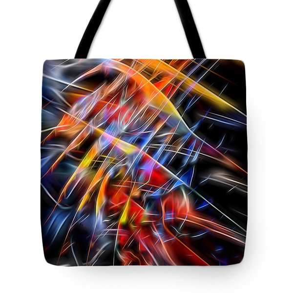 Tote Bag featuring the digital art When Prayer And Worship Embrace by Margie Chapman