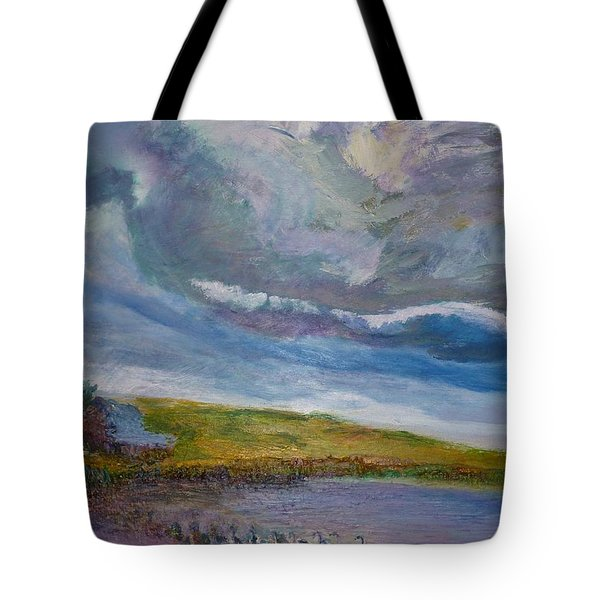 When Push Comes To Shove Tote Bag by Helen Campbell