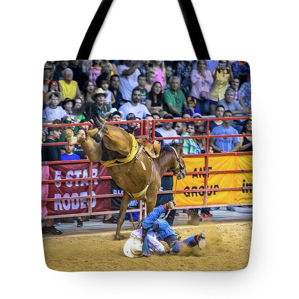 When Riding A Bucking Horse Turns Into Pain Tote Bag