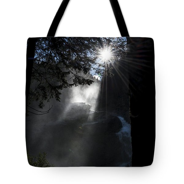 When Sunlight And Water Spray Meet 05 Tote Bag