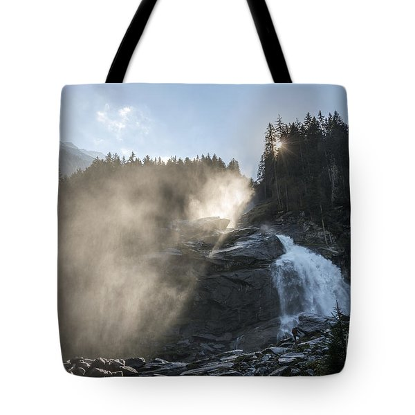 When Sunlight And Water Spray Meet 10 Tote Bag