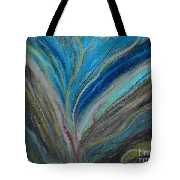Tote Bag featuring the pastel When The Feelings Are Gone by Ania M Milo
