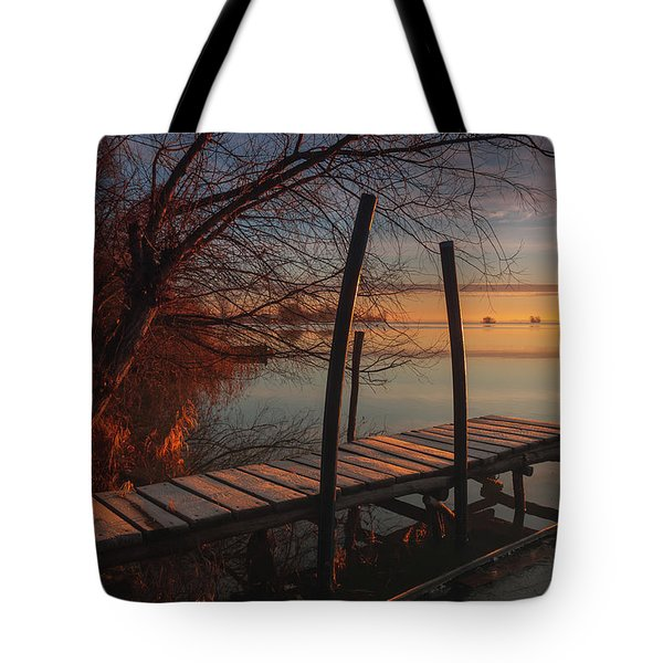 When The Light Touches The Shore Tote Bag