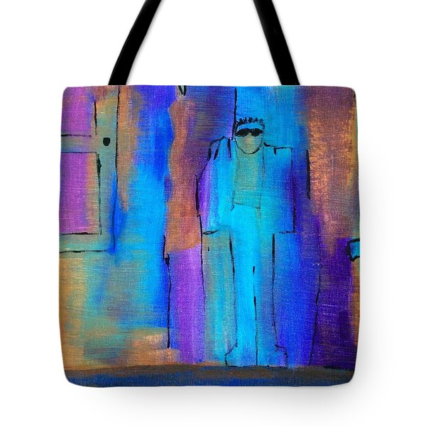 When The Lines Blur Tote Bag