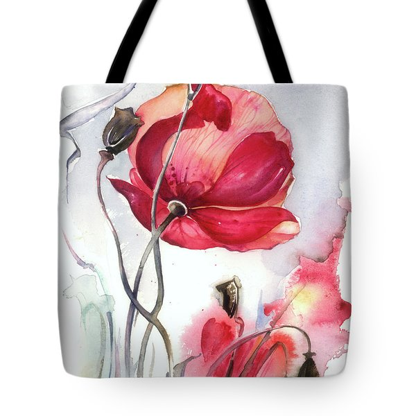 When The Mists Fall Down Tote Bag by Anna Ewa Miarczynska