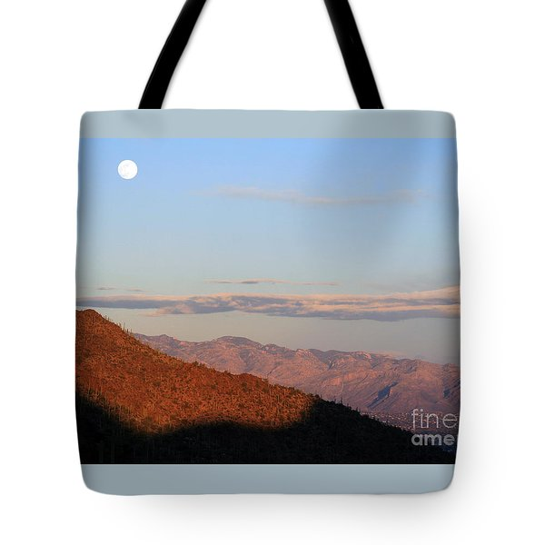 When The Mountains Turn Pink... Tote Bag