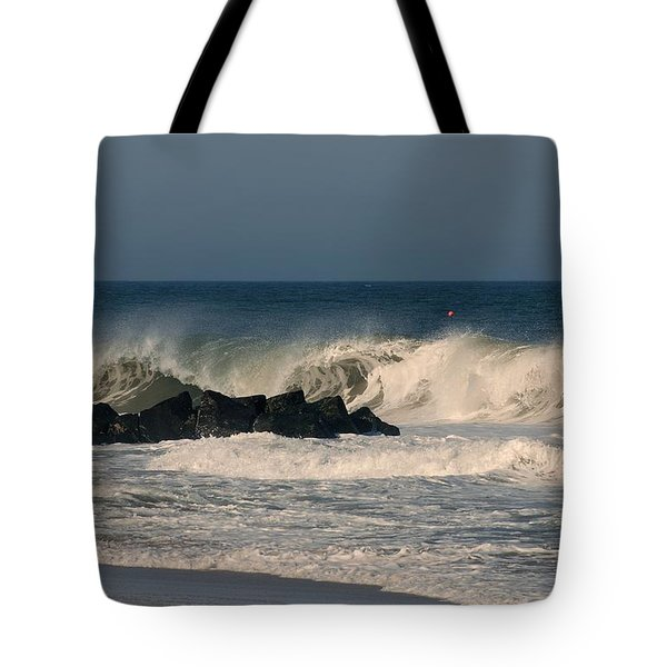 When The Ocean Speaks - Jersey Shore Tote Bag