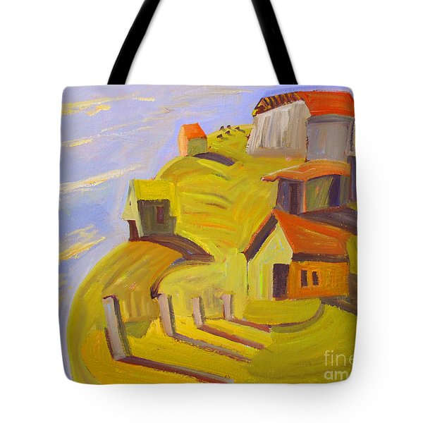 Tote Bag featuring the painting When The Sky And Sea Meet Beyond Lockmora by Charlie Spear