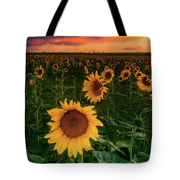 Tote Bag featuring the photograph When The Sky Sings by John De Bord