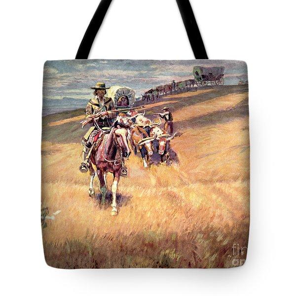 When Wagon Trails Were Dim Tote Bag