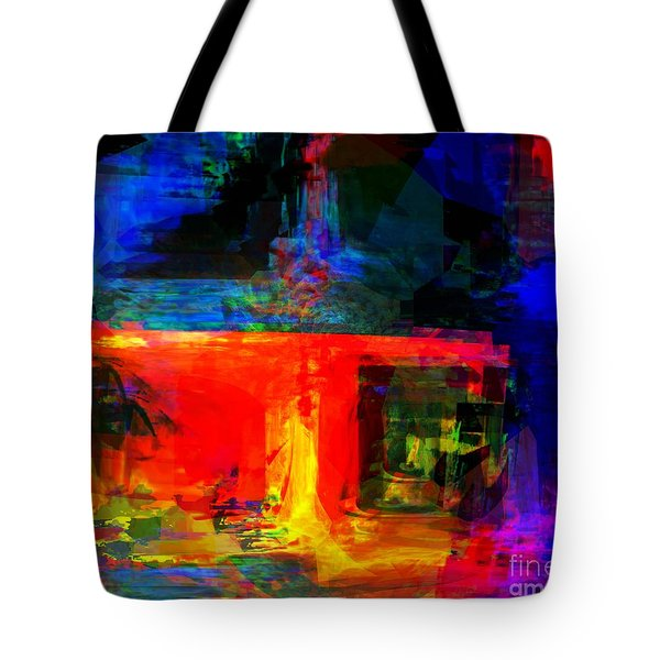 When Water Will Not Stop Tote Bag
