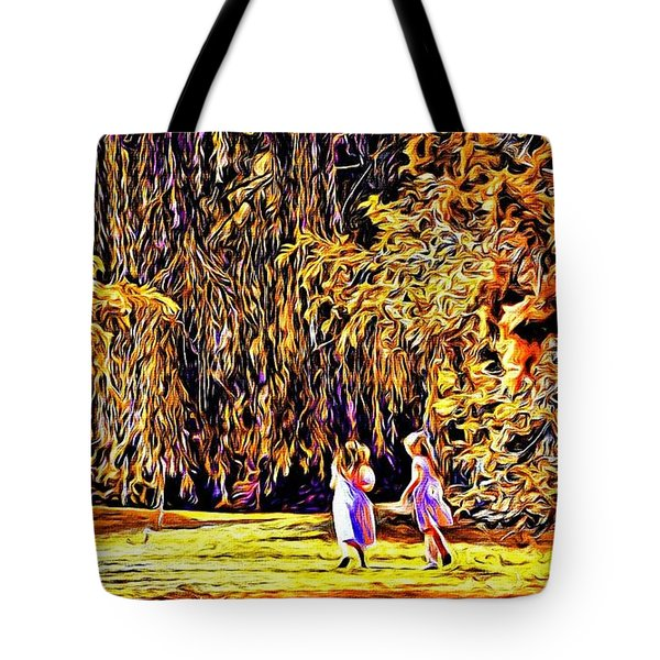 Tote Bag featuring the photograph When We Were Young... by Barbara Dudley