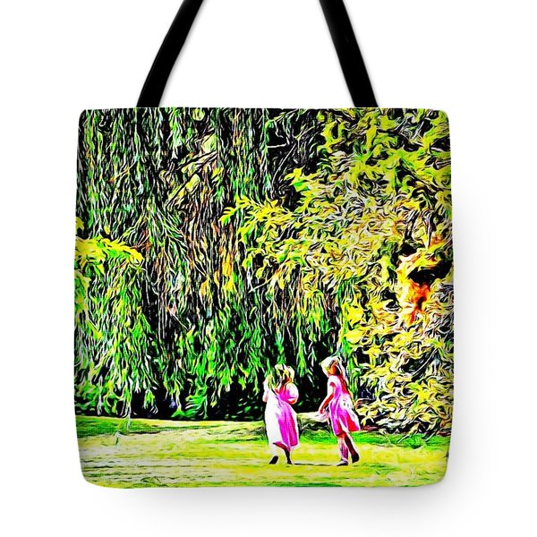 Tote Bag featuring the photograph When We Were Young II by Barbara Dudley
