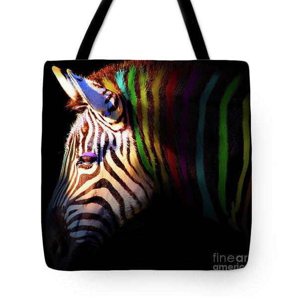 When Zebras Dream 7d8908 Square Tote Bag