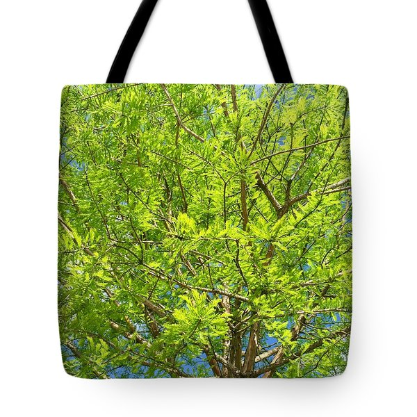Where All The Green Things Are Tote Bag