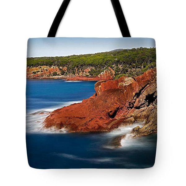 Where Blue Water Meets Red Rock Tote Bag