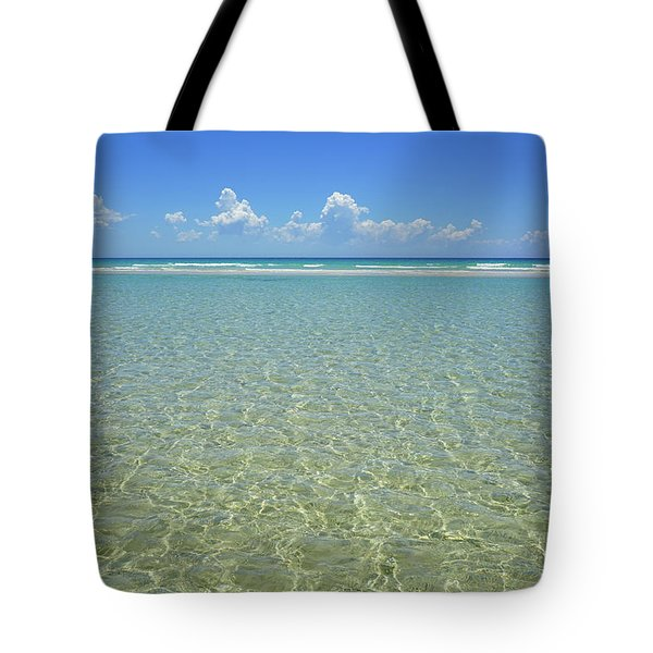 Where Crystal Clear Ocean Waters Meet The Sky Tote Bag