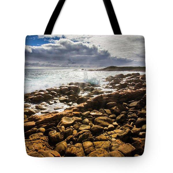 Where Distant Waves Break Tote Bag