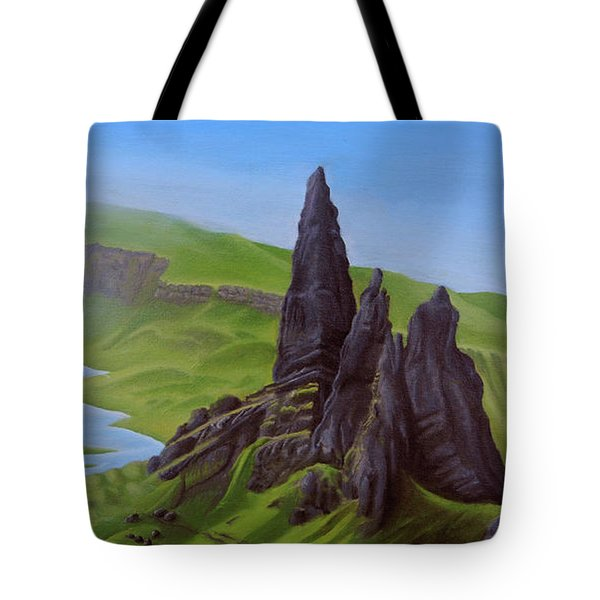 Where Giants Roam The Skye Tote Bag